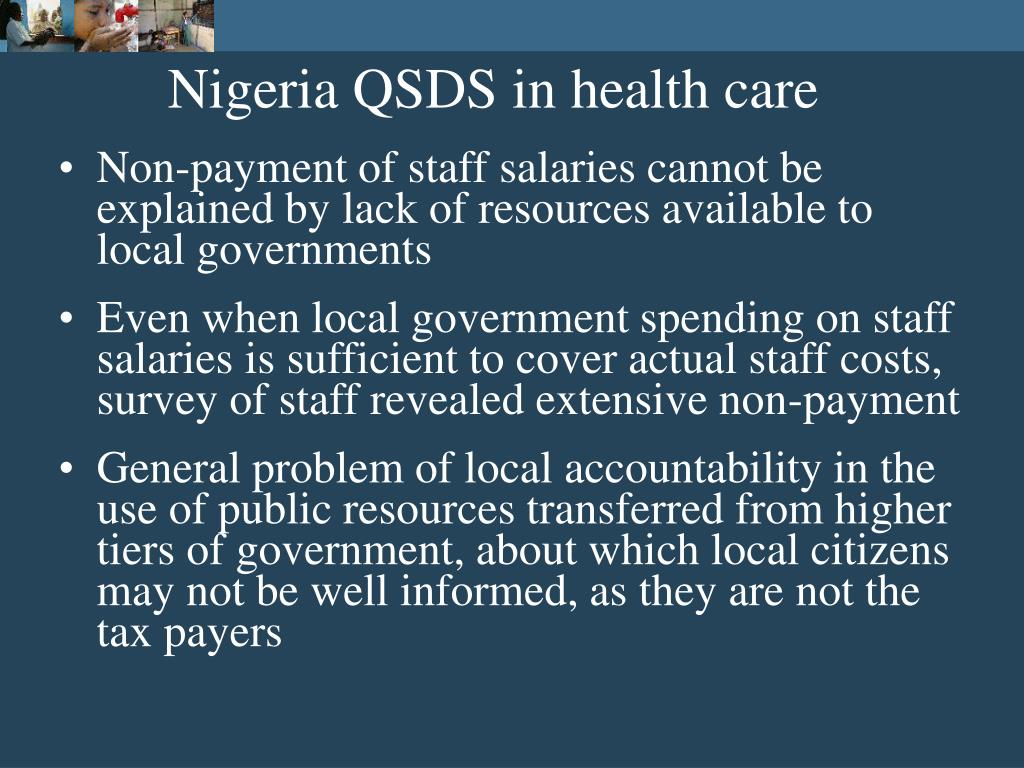 Nigeria QSDS in health care