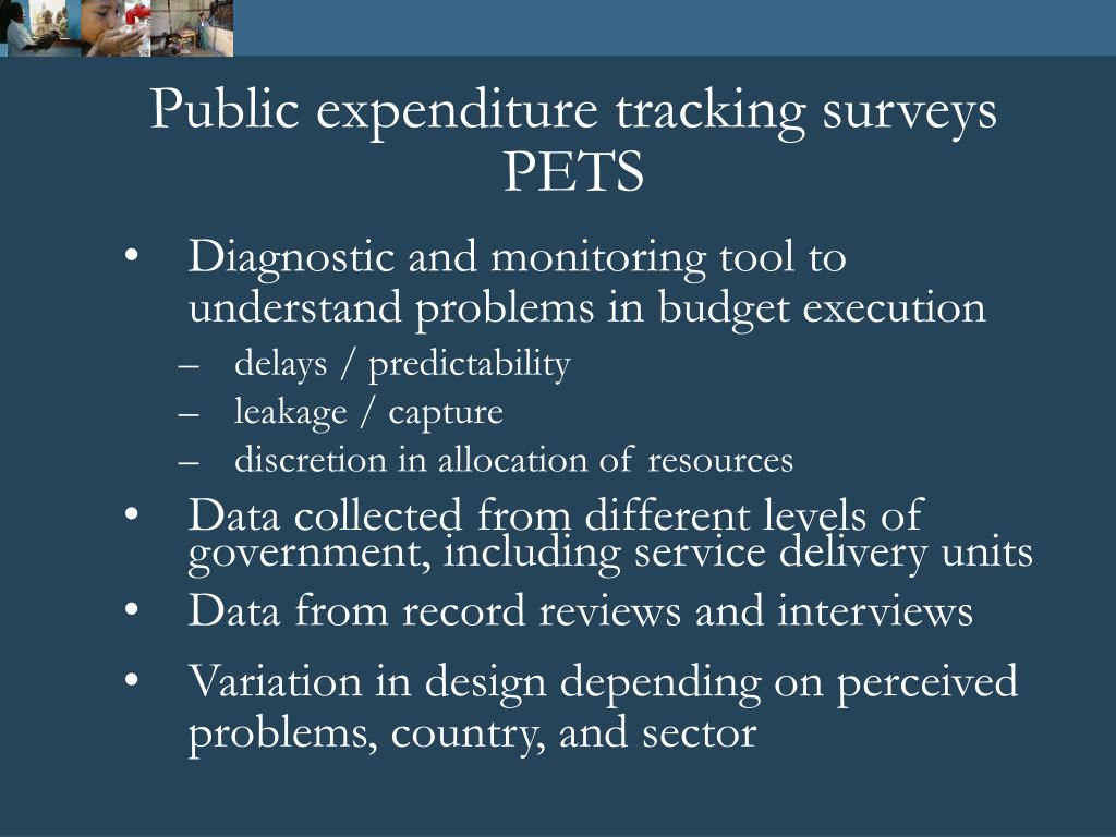 Public expenditure tracking surveys PETS
