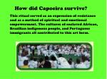how did capoeira survive
