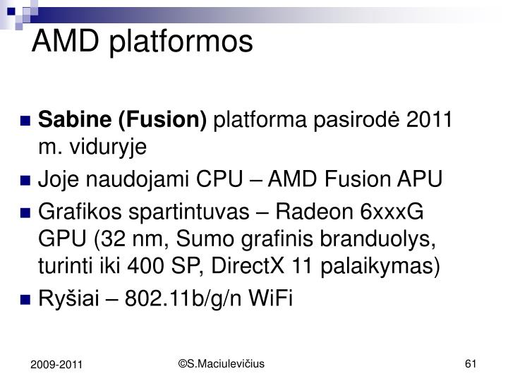 AMD platform