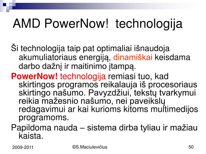 AMD PowerNow!  t