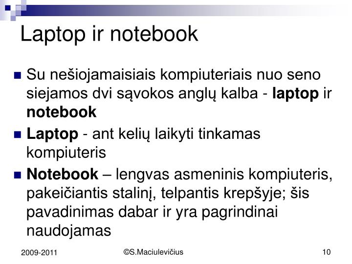 Laptop ir notebook
