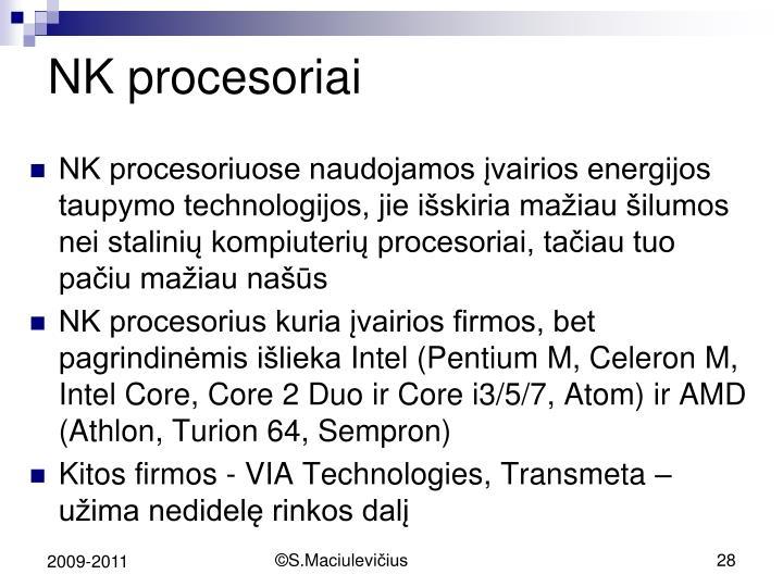 NK procesoriai
