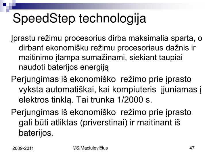 SpeedStep technologija