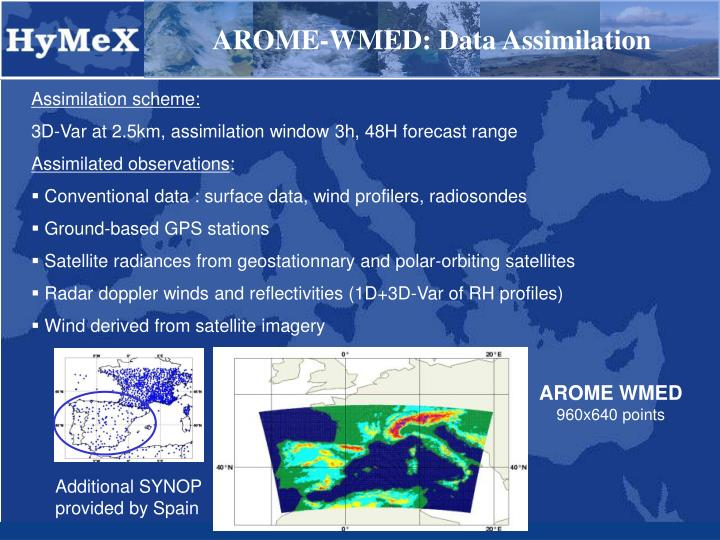 AROME-WMED: Data Assimilation