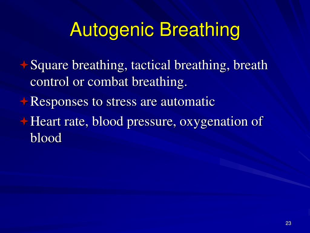 Autogenic Breathing