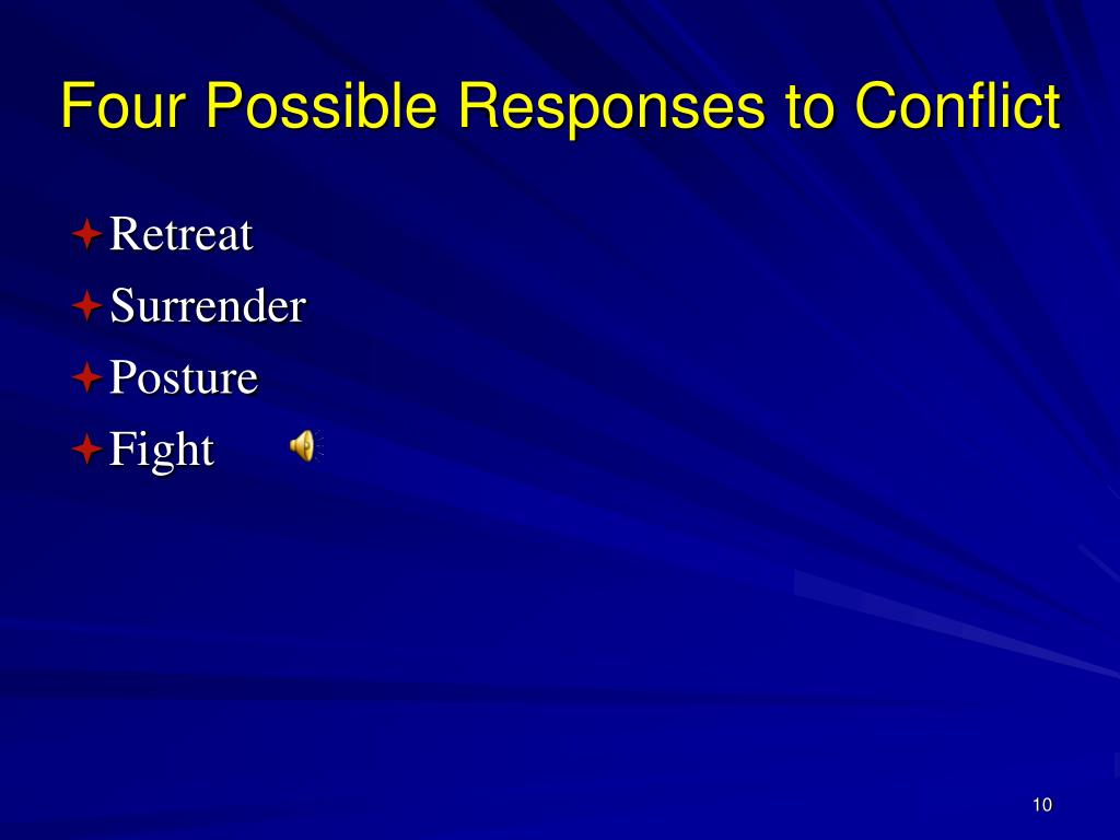 Four Possible Responses to Conflict