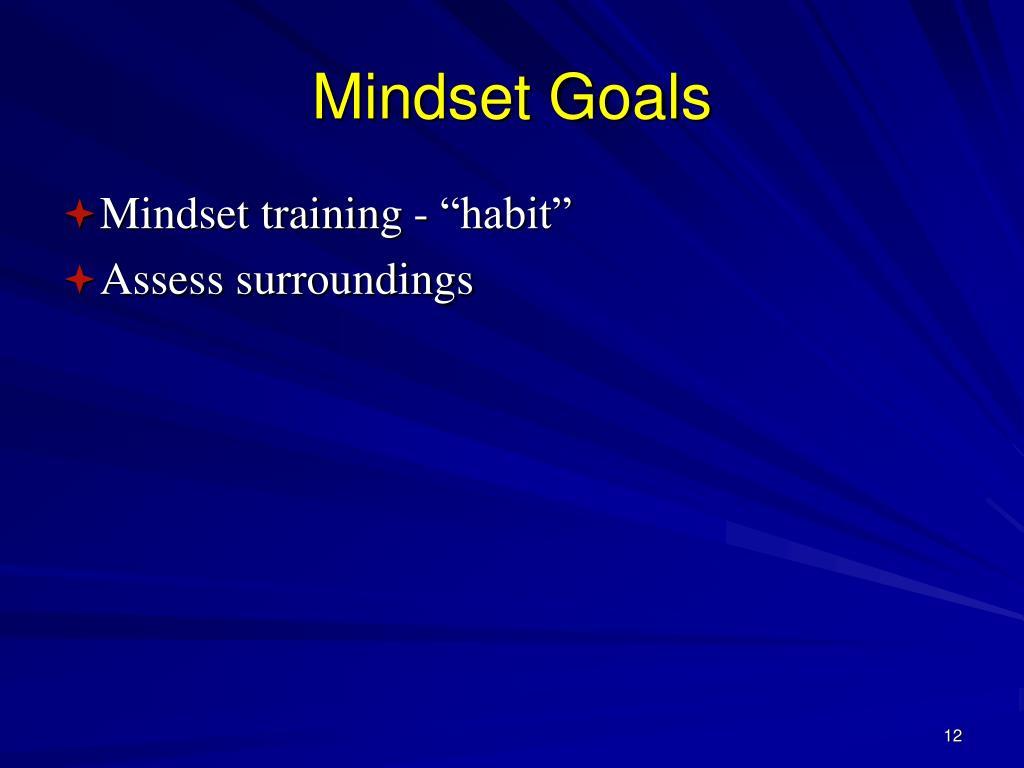 Mindset Goals