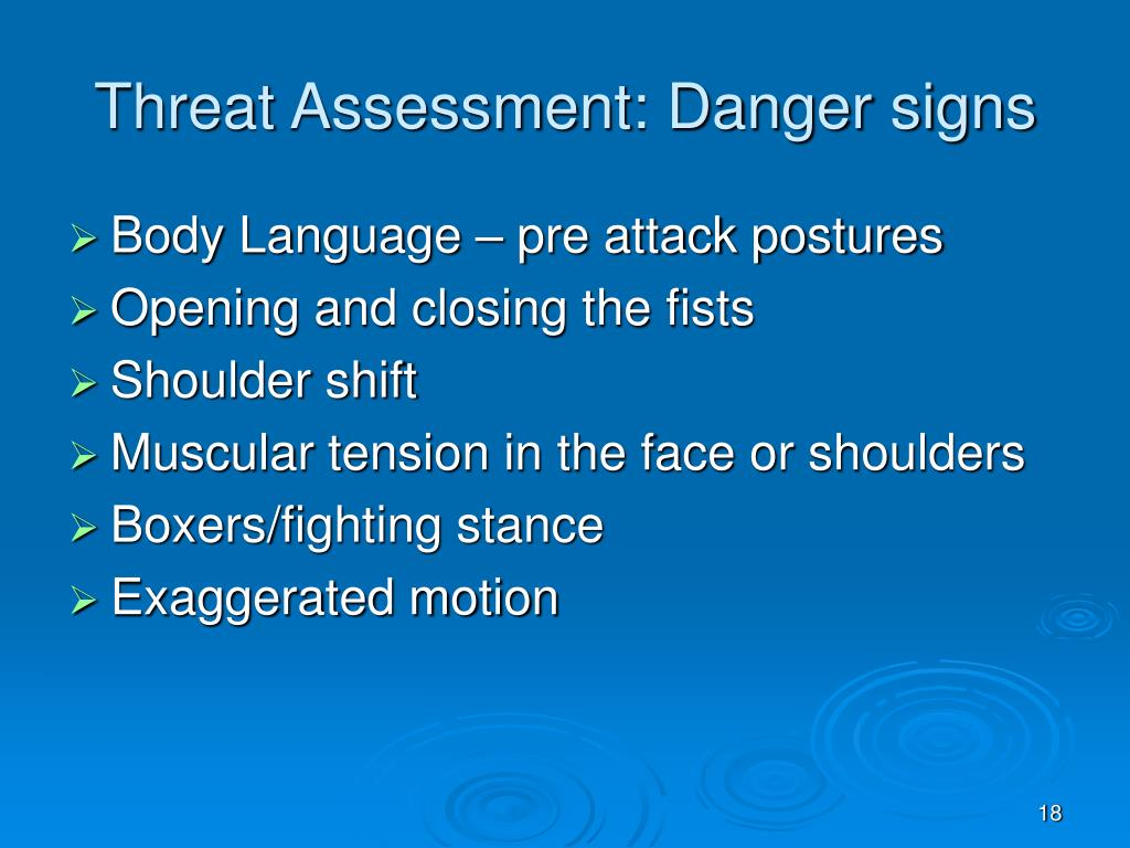 Threat Assessment: Danger signs