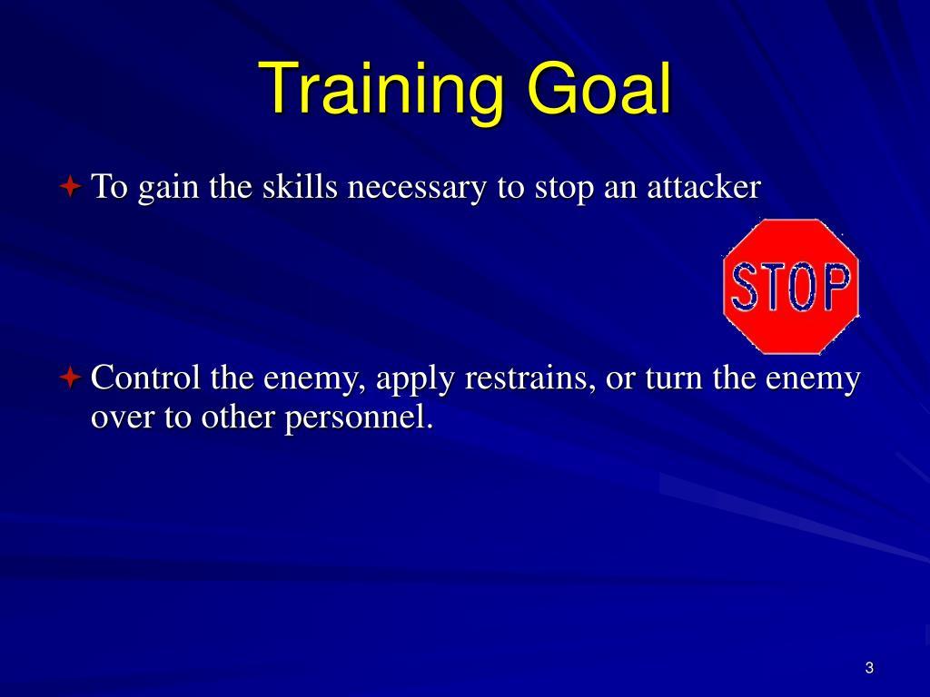 Training Goal
