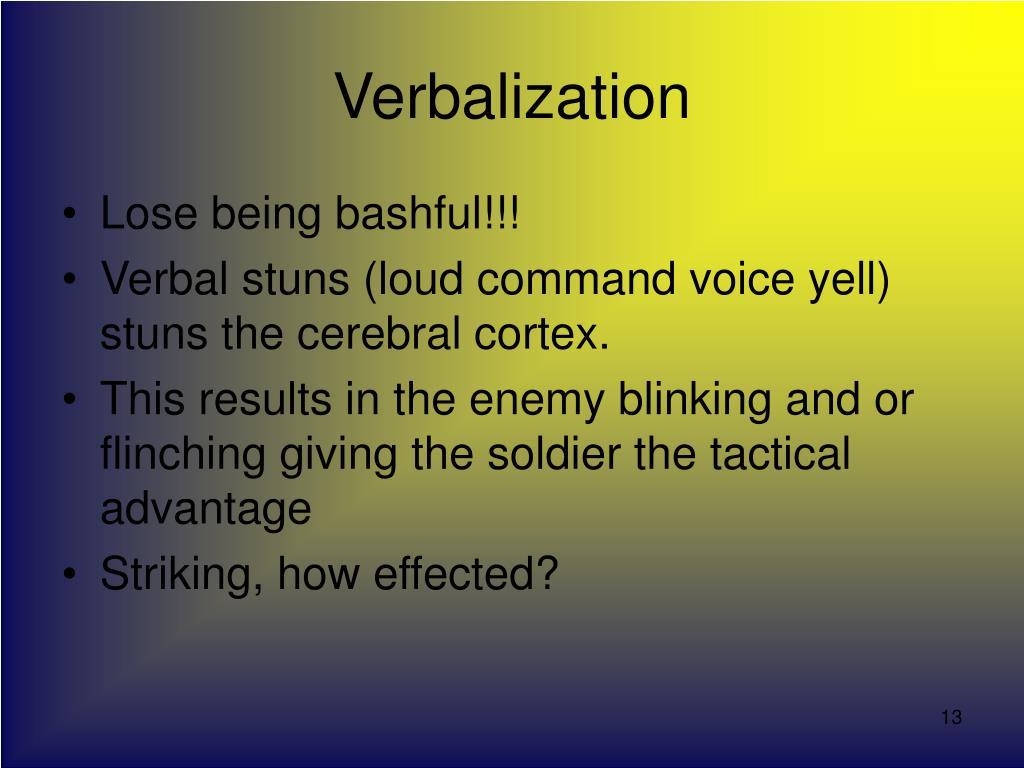Verbalization