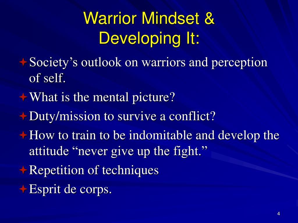 Warrior Mindset &