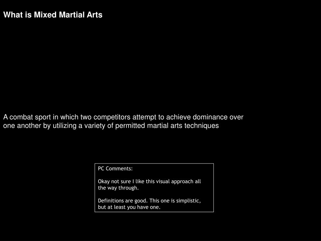 What is Mixed Martial Arts
