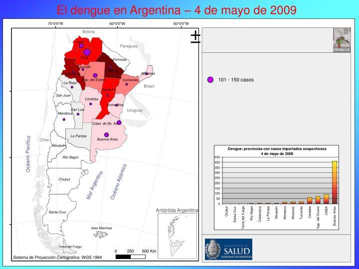 El dengue en Argentina – 4 de mayo de 2009
