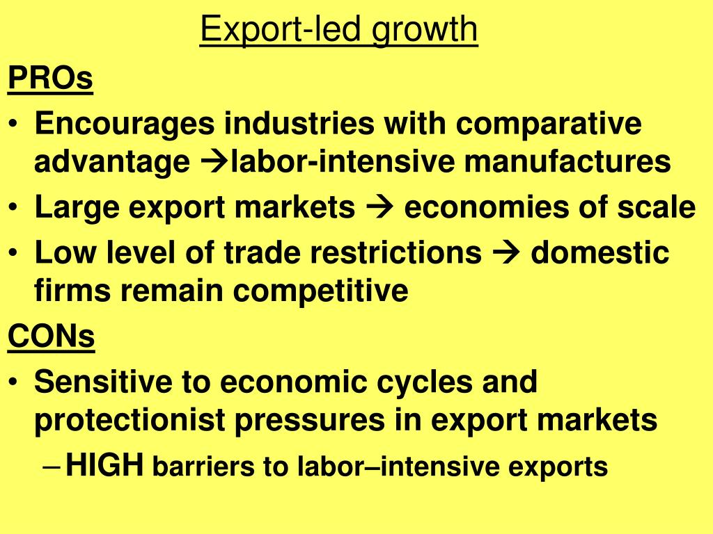 Export-led growth
