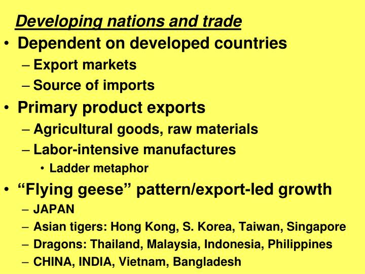 Developing nations and trade