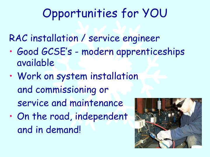 Opportunities for YOU