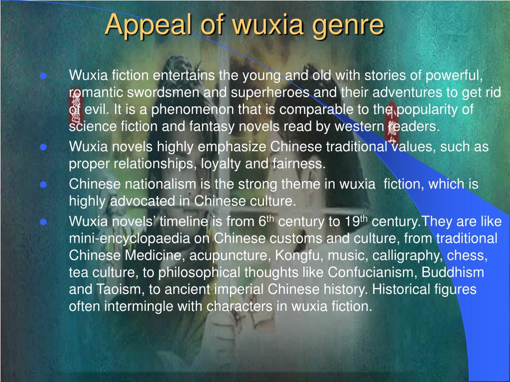 Appeal of wuxia genre