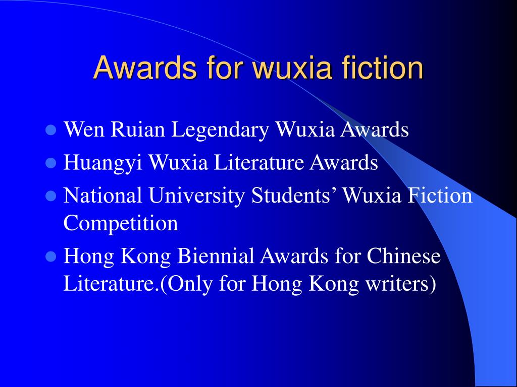 Awards for wuxia fiction