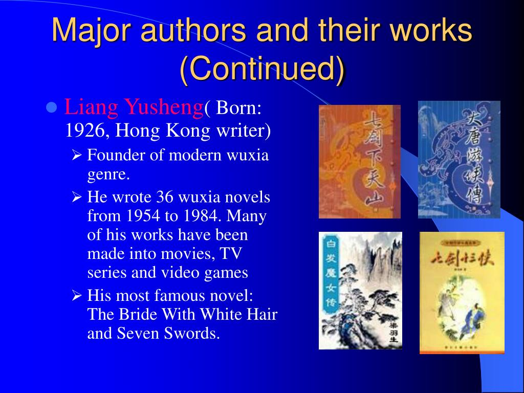 Major authors and their works