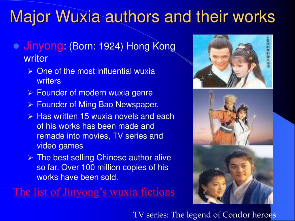 Major Wuxia authors and their works