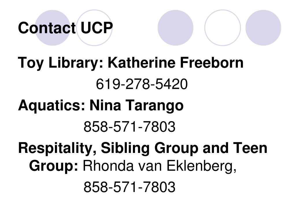 Contact UCP
