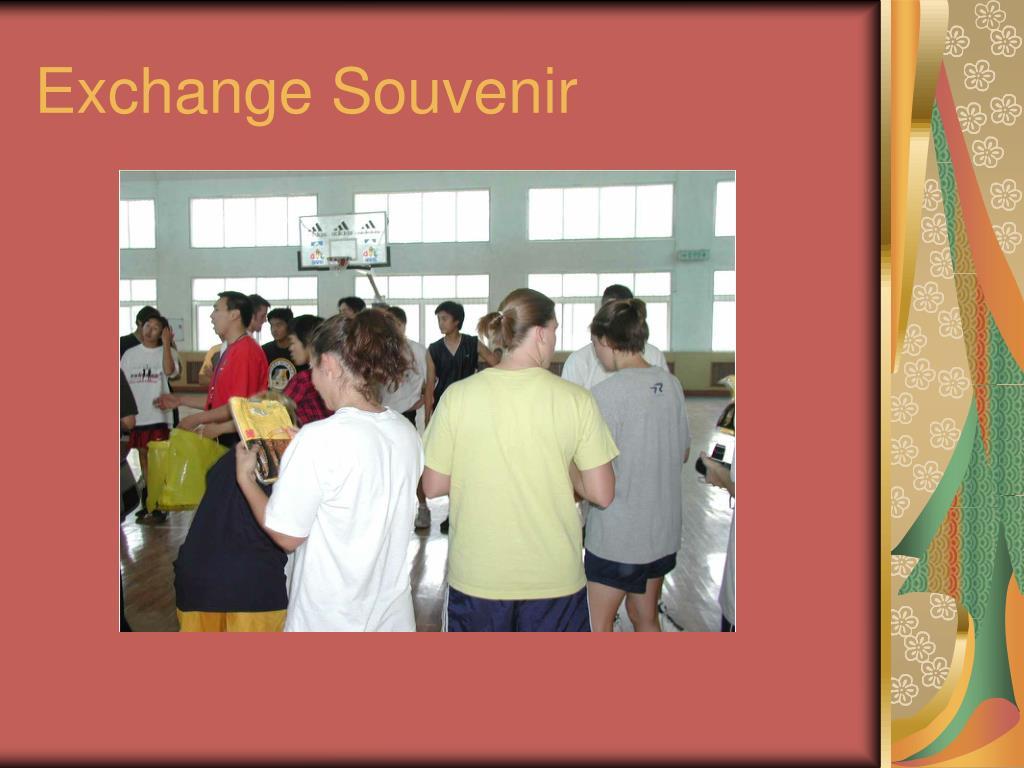 Exchange Souvenir