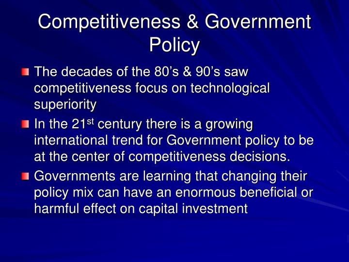 Competitiveness & Government Policy