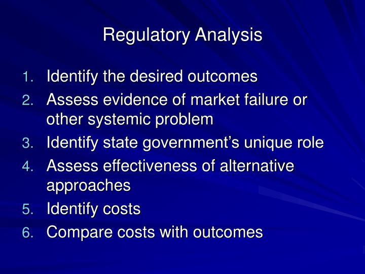 Regulatory Analysis