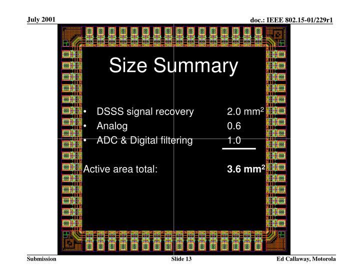 Size Summary