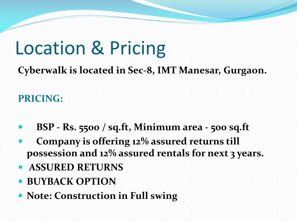 Location & Pricing