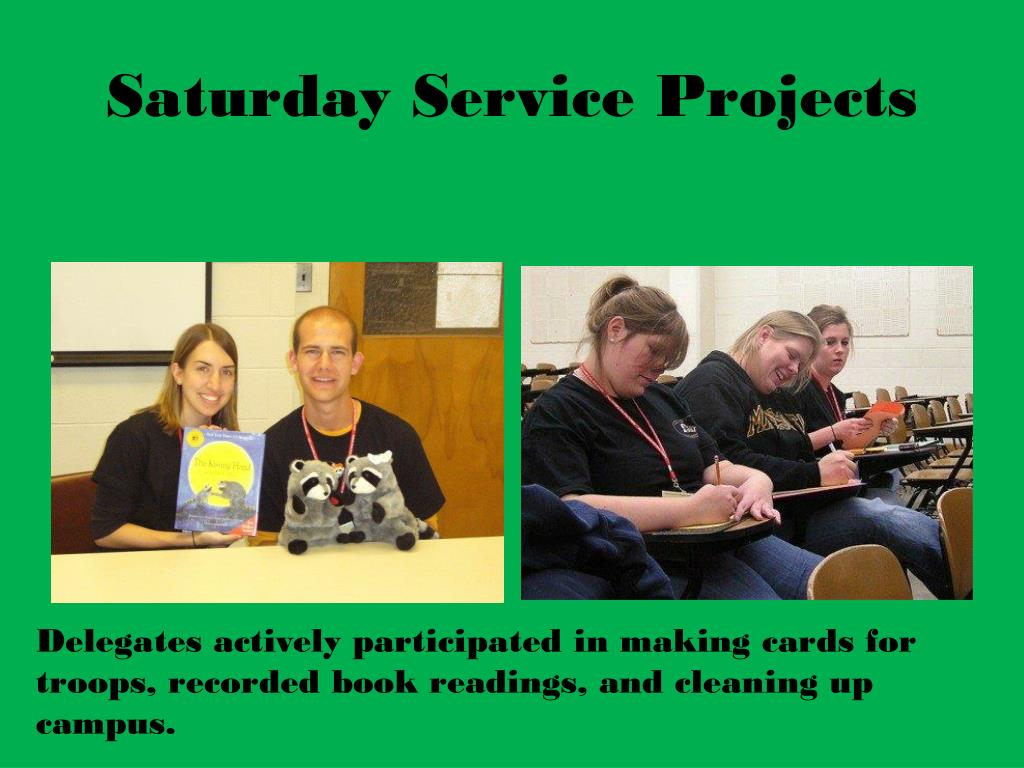 Saturday Service Projects