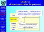 objetivos resumen narrativo del proyecto1