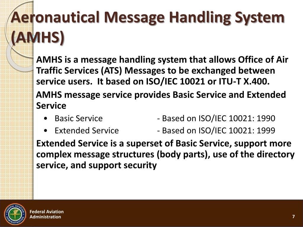 Aeronautical Message Handling System (AMHS)