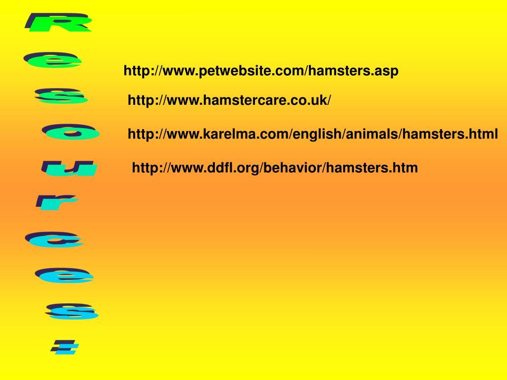http://www.petwebsite.com/hamsters.asp