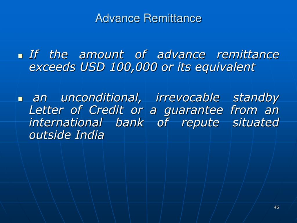 Advance Remittance