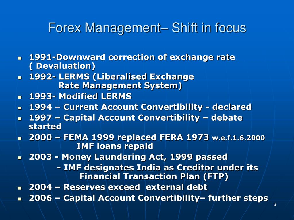 Forex Management– Shift in focus