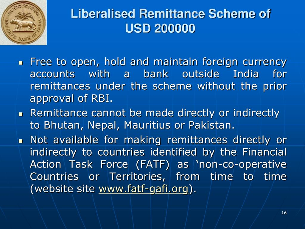 Liberalised Remittance Scheme of