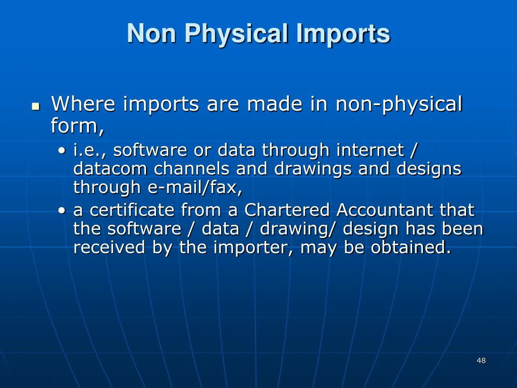 Non Physical Imports
