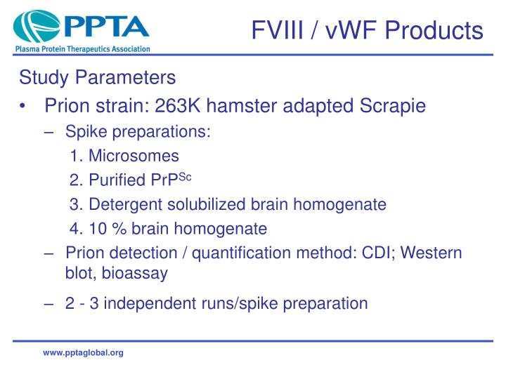 Fviii vwf products