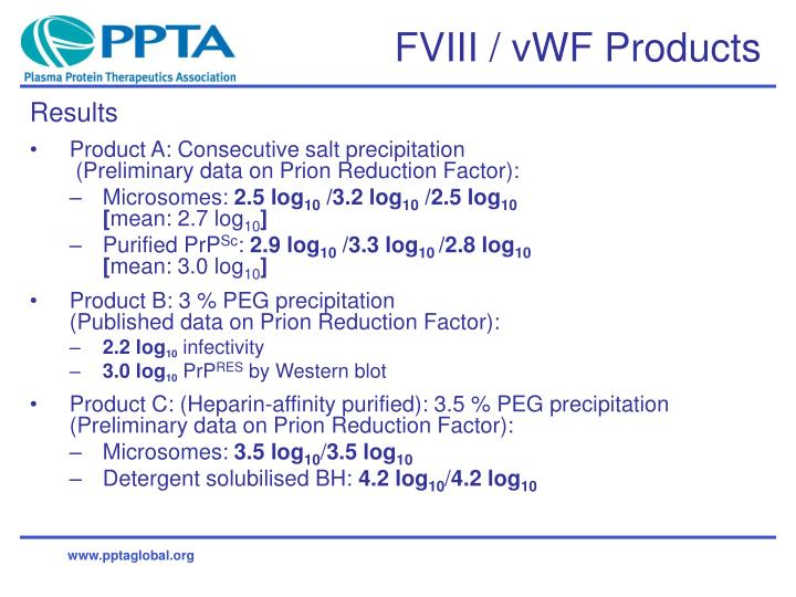 Fviii vwf products3