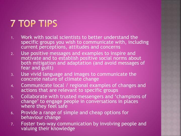 7 top tips