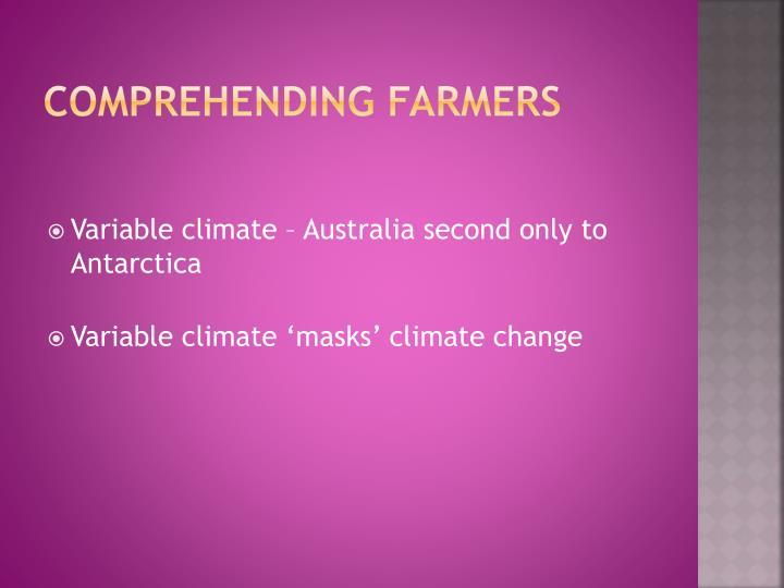 comprehending farmers