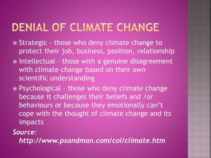 Denial of climate change