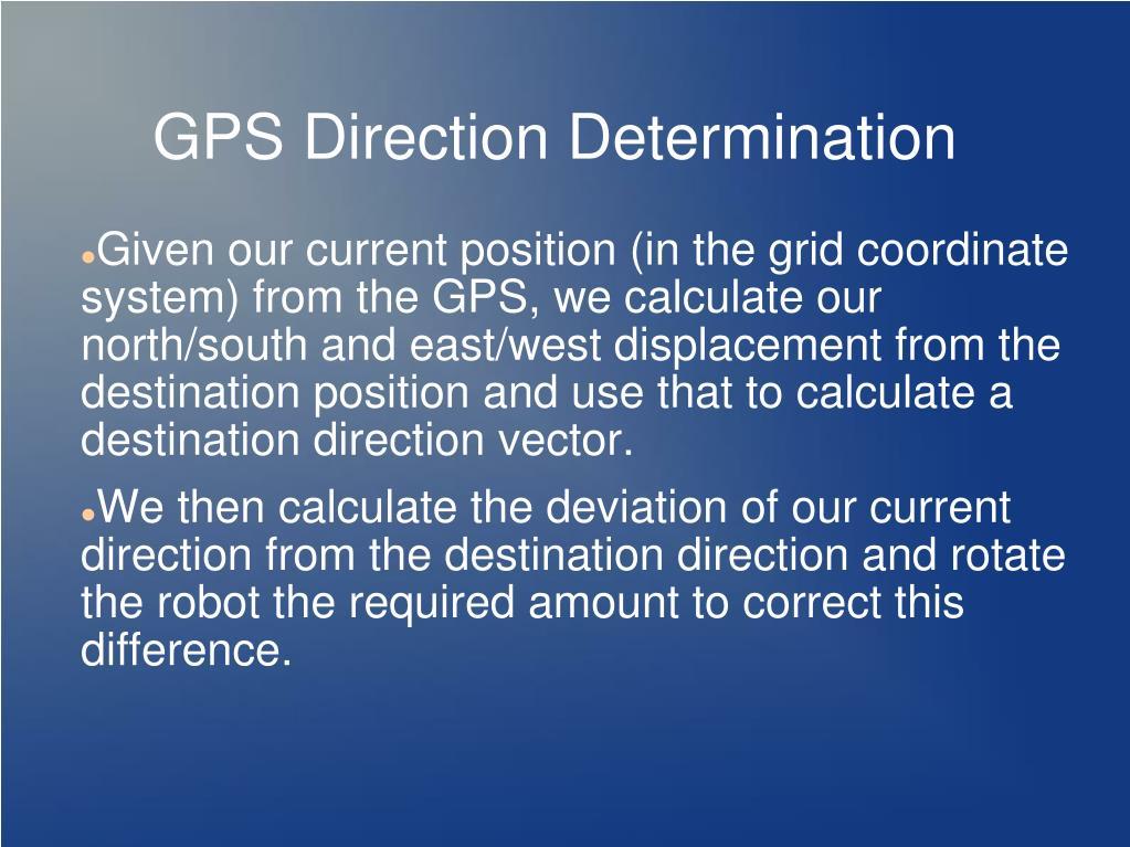 GPS Direction Determination