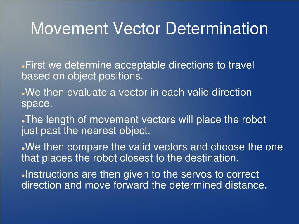 Movement Vector Determination