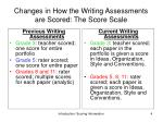 changes in how the writing assessments are scored the score scale