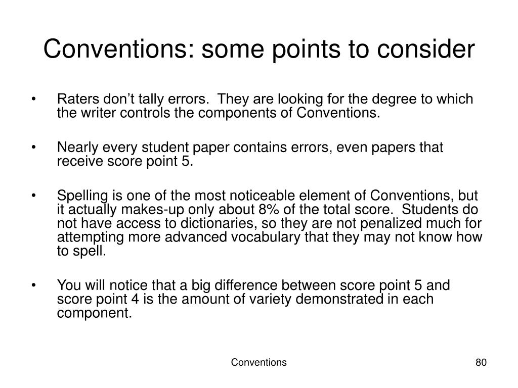 Conventions: some points to consider
