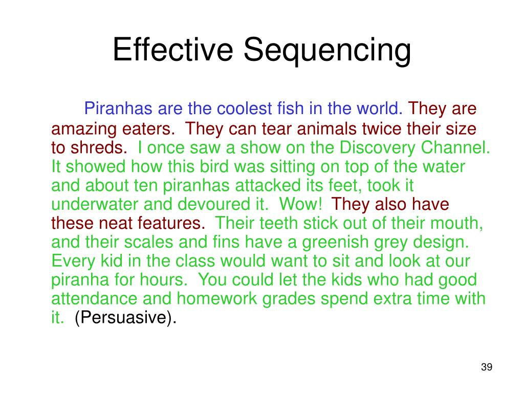 Effective Sequencing