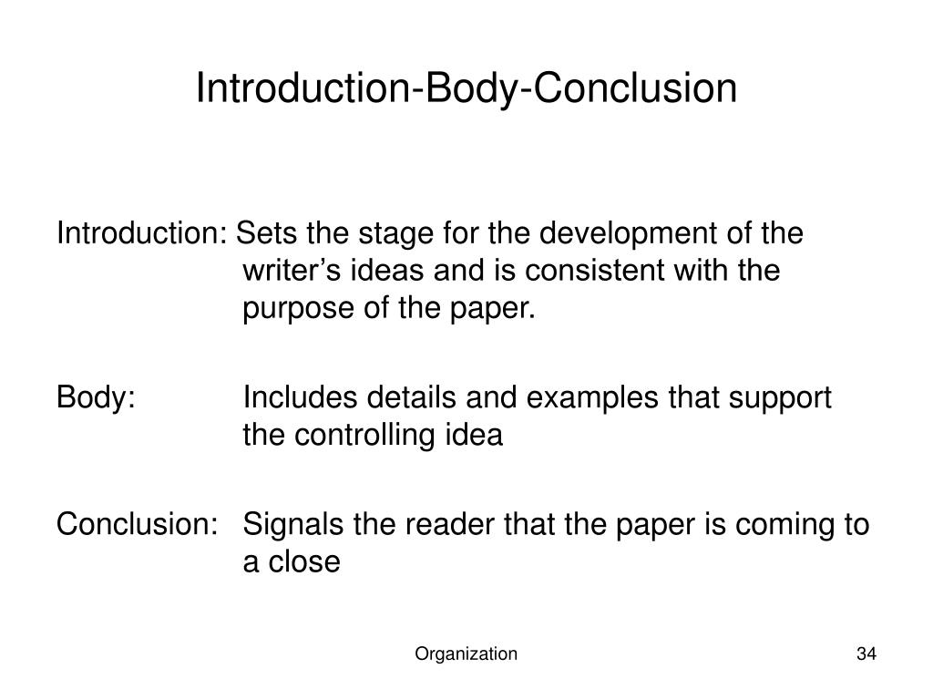 Introduction-Body-Conclusion